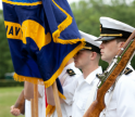 Color Guard Carrying Colors